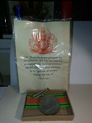 WWII Defence Medal In OHMS Postal Box To Miss C.W.BROWN C/o Barclays Bank, Leeds • 22£