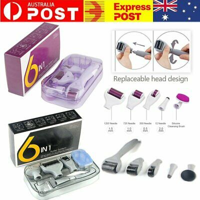 AU10.99 • Buy 6 IN 1 DERMA ROLLER DERMAROLLER MICRO NEEDLE SKIN CARE KIT GIFT Facial Beauty