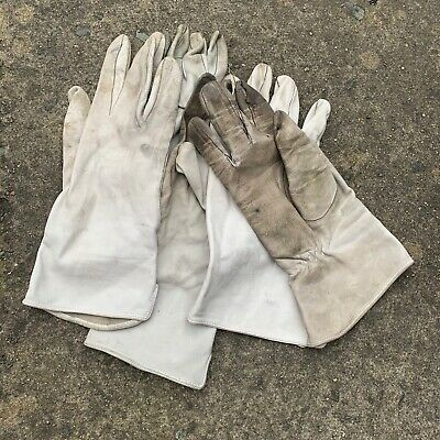 $12.47 • Buy UK British Army Surplus Odd's Aircrew Leather Off White Lightweight Gloves, RAF