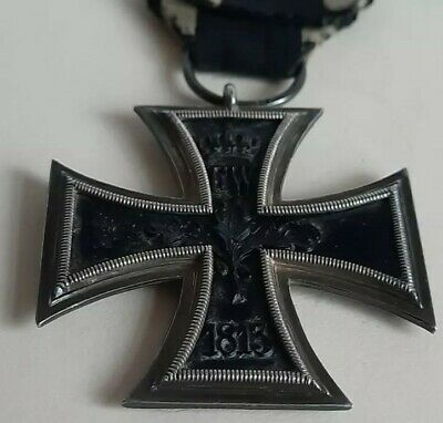 GENUINE German WW1 Iron Cross 2nd Class Ring Stamped Nice Example • 85£