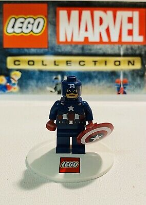 Lego Marvel Captain America Sh014 Dark Blue Suit From Avenging Cycle 6865 • 3.50£