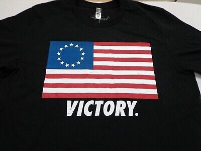 VICTORY  Nine Line Apparel Black  US Flag T Shirt Size Large  • 9.31£