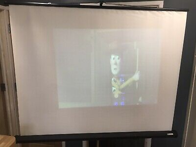 Sahara Projector Screen Tripod Very Good White Screen Unmarked • 39£