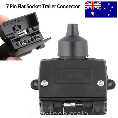 AU11.49 • Buy 7 Pin Flat Female Trailer Light Plug Connector Socket Caravan Car Truck Adapter