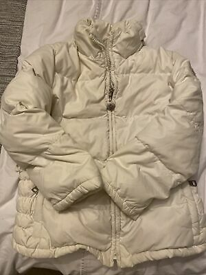 £50 • Buy Moncler White Down Filled Coat With Zipped Hood