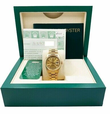 $ CDN20877.71 • Buy Rolex President Day Date 18038 Champagne 18K Yellow Gold Box Papers