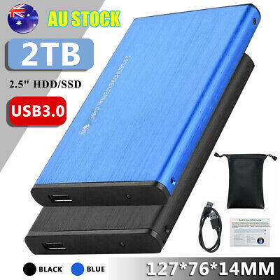 AU38.99 • Buy 2.5'' USB 3.0 1/2TB External Hard Drive Disk Fit For PC Laptop Portable Set AU
