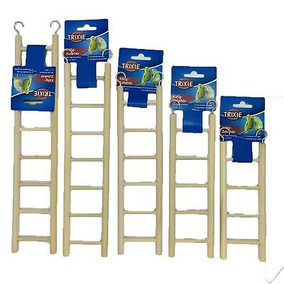 Trixie Pet Bird Small Animal Rodent Wooden Cage Ladder With Two Hooks Sizes  • 2.59£