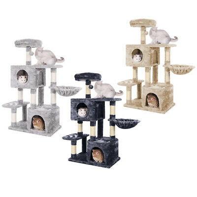 £44.95 • Buy AVC Cat Tree Scratch House Post Bed Activity Nest Beige Grey Tower 1.2