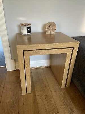 Next Light Oak Nest Of Tables  • 35£