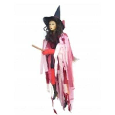 Witches Of Pendle *crystal  Red Flying Witch 65 Cms  Info Book Pagan/ Occult • 32.50£