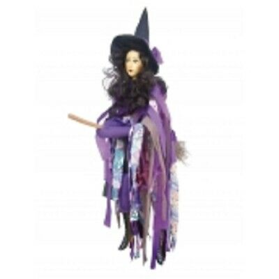 Witches Of Pendle *crystal  Purple Flying Witch 65 Cms  Info Book Pagan/ Occult • 32.50£