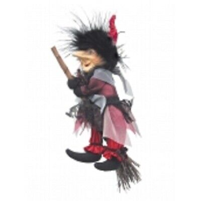 Witches Of Pendle *emily  Burgundy Flying Witch 20 Cms Info Book Pagan/ Occult • 19.95£