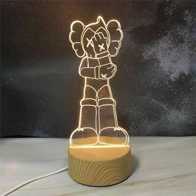 $58 • Buy Kaws Figure Bearbrick Astro Boy 3D Visual Lamp