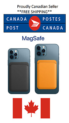 $ CDN9.99 • Buy Magsafe Leather Wallet IPhone 12/ Pro / MAX CANADA SELLER *FREE SHIPPING 5 Days*