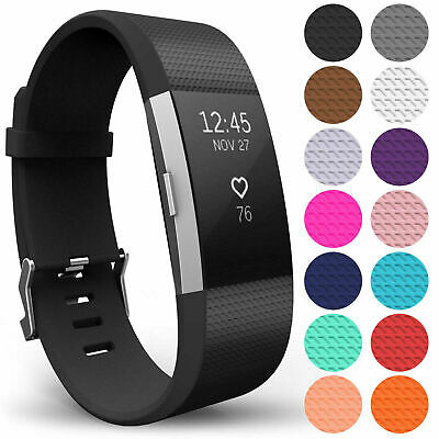 $ CDN3.96 • Buy For Fitbit Charge 2 Silicone Wristband Band Strap Replacement Watch Wrist Straps