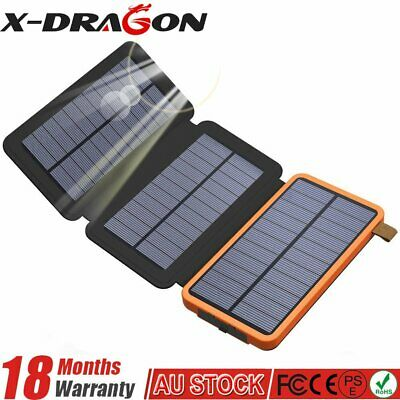 AU49.99 • Buy Waterproof Solar Charger Portable Power Bank 300000mAh External Battery Dual USB