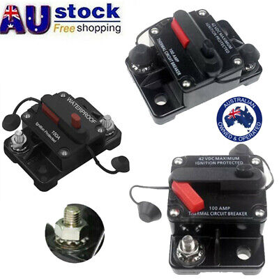AU16.71 • Buy 30A-300A AMP Circuit Breaker Fuse Car Boat 12-48V Waterproof Manual Reset Switch