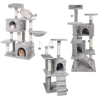 £39.95 • Buy AVC Large Cat Tree Scratch Post Bed Multi Level Activity Tower 1.2m Light Grey