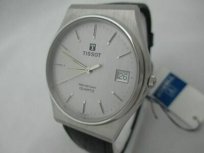 Nos New Quartz Swiss Men's Tissot Seastar Analog Watch With Date And Tag 1980's • 122.88£