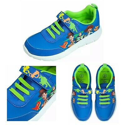 £7.95 • Buy BNWT Kids Boys Licensed Blue Green TOY STORY  4 Easy On Shoes Trainers UK 8 - 13
