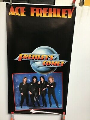 """Ace Frehley """"Frehley's Comet"""". Original 1987 Promo Poster 17 X 30 • 8.09£"""