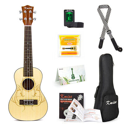 AU83.57 • Buy 23 Inch Concert Ukulele Acoustic Hawaiian Guitar Spruce Musical Instrument Gifts