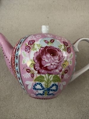 Pink Floral Teapot With Lid By Pip Studio Hardly Used • 14.99£