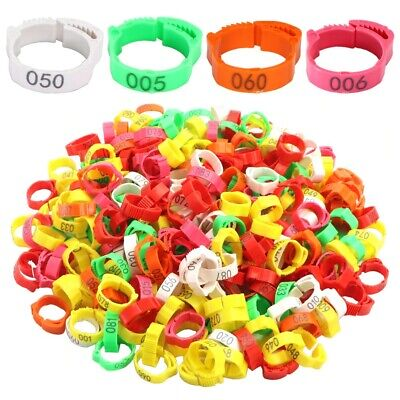 £4.98 • Buy 30Pcs Chicken Duck Goose Foot Ring Adjustable Size For Poultry Leg Digital Label