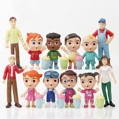 £10.99 • Buy New Cocomelon Family & Friends 12pcs Action Figures Pack Toy Doll Xmas Gift