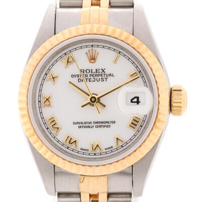 $ CDN4823.02 • Buy Rolex Datejust 69173 Stainless SteelxYG AT White Dial