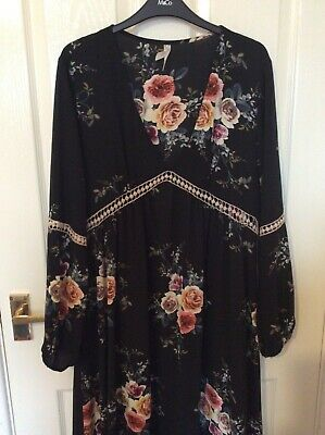 Stella Morgan Maxi Dress With Floral Pattern - Size 12 (generously Sized) • 14.50£