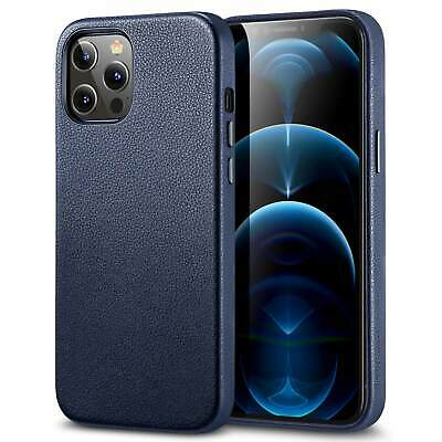 ESR Premium Real Leather Case For IPhone 12 Pro Max, Supports Wireless Charging • 13.99£