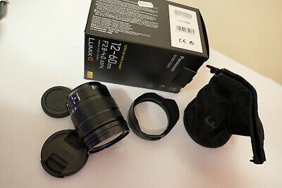 Panasonic LEICA DG VARIO-ELMARIT 12-60mm F/2.8-4.0 ASPH POWER LENS Boxed M/43 • 484.95£