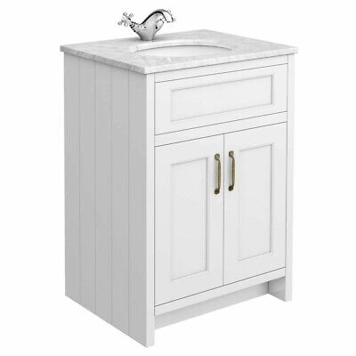 £250 • Buy 600 Undermount Basin Sink With Marble Top For Vanity Unit