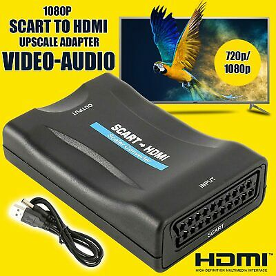 SCART To HDMI Composite 1080P Video Scaler Converter Audio Adapter For DVD TV UK • 7.19£