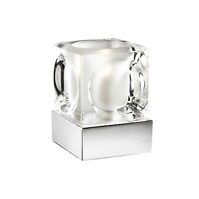 Silver Chrome Ice Cube Glass Dimmable Touch Table Lamp Ideal For Bedside RRP £15 • 13.99£