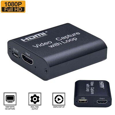 Video Capture Card Screen Record USB 2.0 1080P Game Capture Streamer Device HDMI • 13.91£