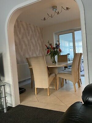 Natural Stone Dining Table And 6 Chairs • 400£