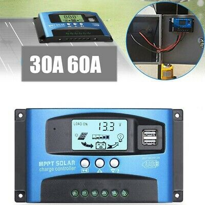 12/24V 30A/40A/60A MPPT Solar Charge Controller Fast Panel Battery Regulator LCD • 12.79£