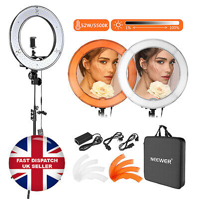 Neewer 18  Inches Outer Dimmable Lightning Kit LED Ring Light Camera Photo Video • 74.99£