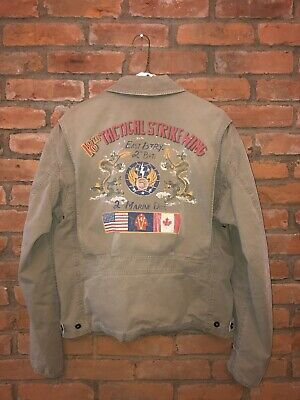 $350 • Buy Polo Ralph Lauren Military Jacket 18th Tactical Wing WW2 Flag Dragon L Large M41