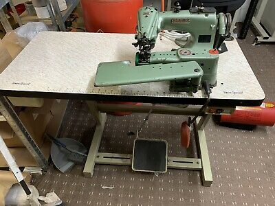 Lewis Union Special 150-2 Blind-stitcher Hemmer Hemming Sewing Machine And Table • 199£