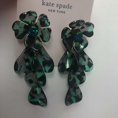 $ CDN30.99 • Buy Kate Spade Petal Pushers Dangle Green / Multi Earrings   NWT