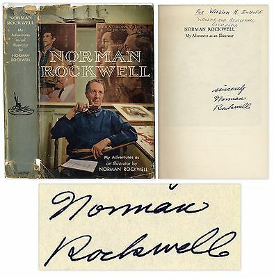 $ CDN446.57 • Buy Norman Rockwell Autobiography Signed ''Illustrator''