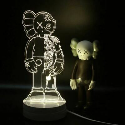 $58 • Buy Kaws Figure Bearbrick Flayed Open 3D Visual Lamp