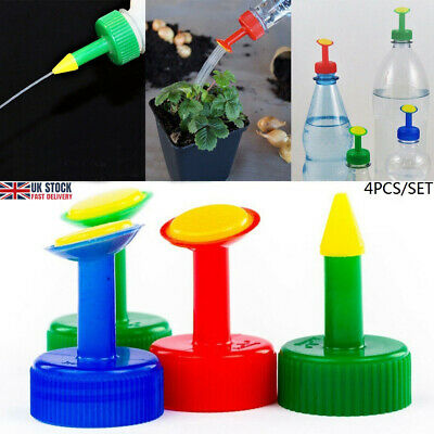 Bottle Top Waterers Set Of 4 Garden Water Seed Seedlings Watering • 3.59£