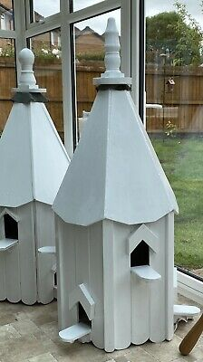 Handmade Quality Wood Dovecote Birdhouse . Four Nesting Pairs White • 249£