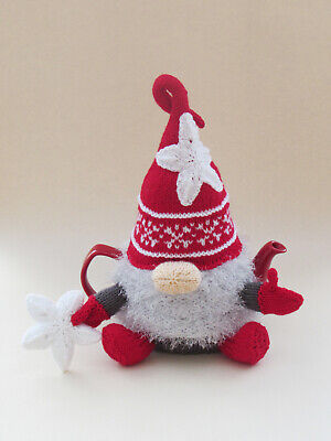 £3.85 • Buy Christmas Gnome Tea Cosy Knitting Pattern To Knit Your Own Nordic Gnome