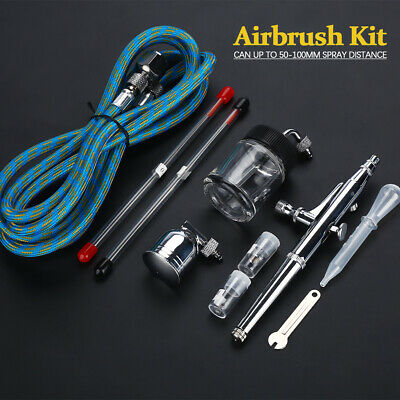 Dual-Action Spray Gun Airbrush With Compressor Airbrush Kit For Model Cake • 20.99£